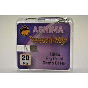 Ashima Extra potápavá náväzcová šnúra Groundhog 20m 25 lb-Farba GREEN