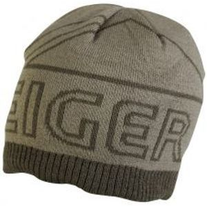 Eiger Čiapka Logo Knitted Hat With Fleece Olive Green