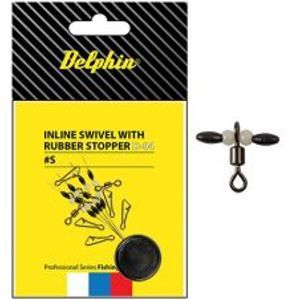 Delphin Inline Swivel With Rubber Stopper 10 ks