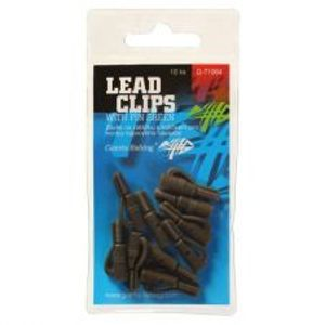 Giants Fishing Záves Na Olovo Lead Clips With Pin Green 10 ks