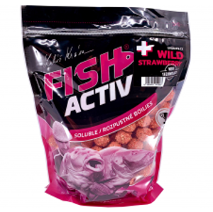 LK Baits Boilie Fish Activ Plus Wild Strawberry-1 kg