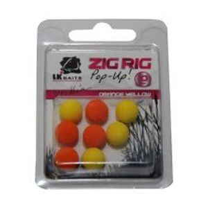 LK Baits Bolies Zig Rig Pop-Up 10 mm Orange Yellow-Orange/Yellow