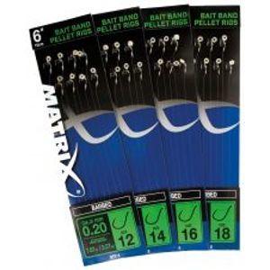 """Matrix Nadväzce 6 """"Bait Band Pellet Rigs Barbed-Veľkosť Háčika 12"""
