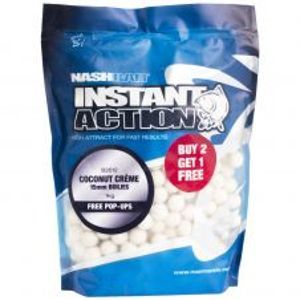 Nash Boilies Instant Action Coconut Creme-1 kg 18 mm
