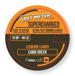 Prologic Olovená šnúrka Supercharged Leadcore Leader Camo Green 10 m-Nosnosť 40 lb