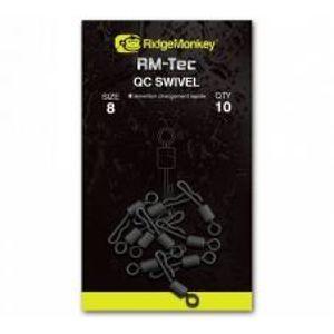 RidgeMonkey Rýchlovýmenný Obratlík Quick Change Swivel-Veľkosť 8