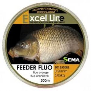 Sema Vlasec Feeder Fluo Oranžová 300 m-Priemer 0,16 mm / Nosnosť 3,85 kg